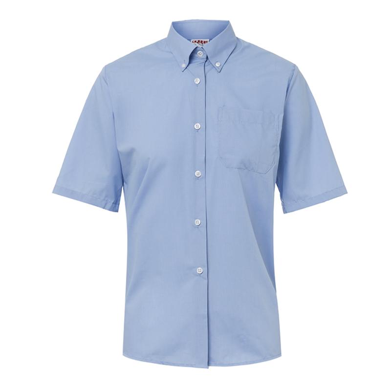 fb1085c2e60f Blusa celeste manga corta | Artel Uniformes